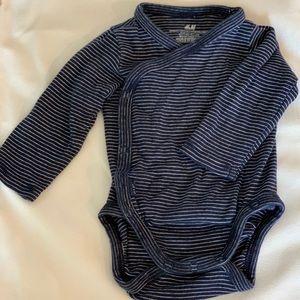 Baby boy wrap type onesie, organic, never worn